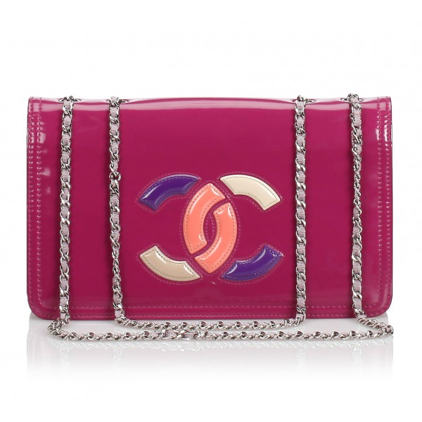 Chanel Vintage - Patent Lipstick Flap Bag - Pink - Patent Leather Handbag - Luxury High Quality