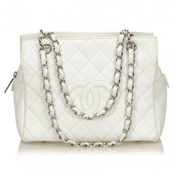 Chanel Vintage - Caviar Petit Timeless Shopping Tote Bag - White Ivory - Caviar Leather Handbag - Luxury High Quality