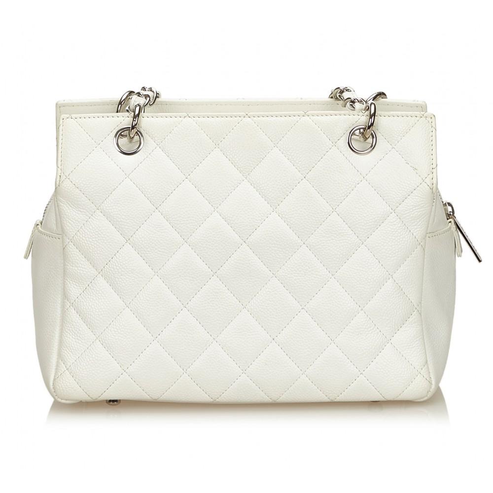 f436310829b9 ... Chanel Vintage - Caviar Petit Timeless Shopping Tote Bag - White Ivory  - Caviar Leather Handbag ...
