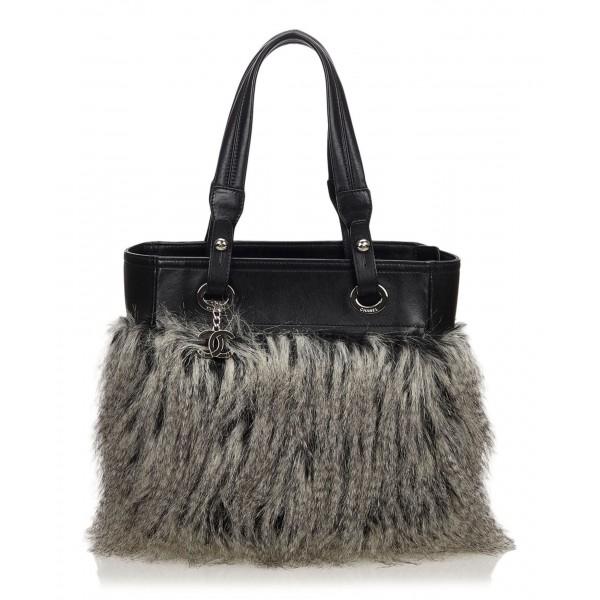Chanel Vintage - Fur Fantasy Handbag - Black - Fur Handbag - Luxury High Quality