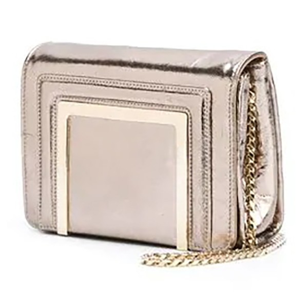 Jimmy Choo Vintage - Metallic Leather Ava Crossbody Bag - Gold - Leather and Lambskin Handbag - Luxury High Quality