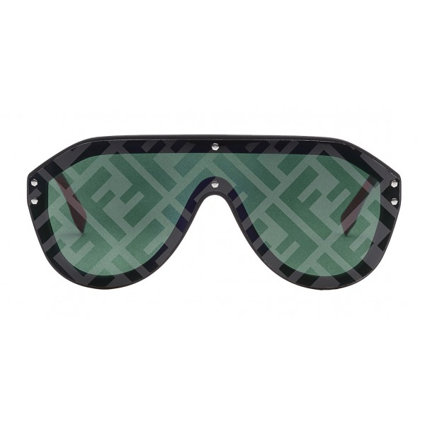 Fendi - Fabulous - Black Mask Oversize Sunglasses - Sunglasses - Fendi Eyewear