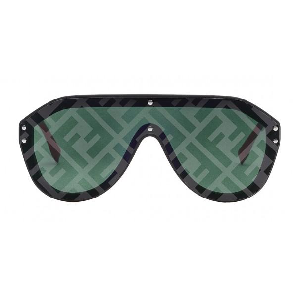Fendi - Fabulous - Occhiali da Sole Mascherina Oversize Neri - Occhiali da Sole - Fendi Eyewear