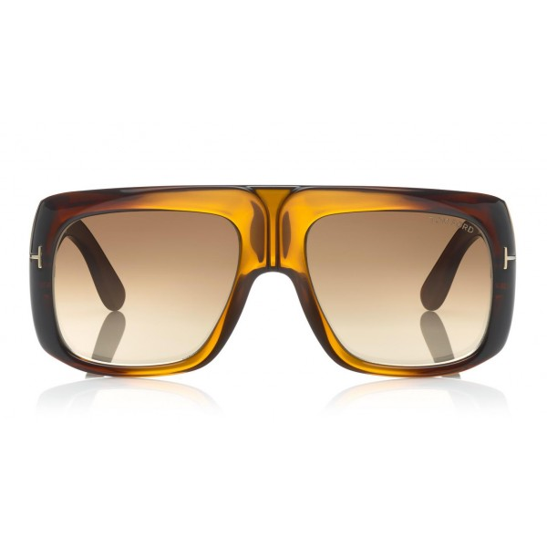 Tom Ford - Gino Sunglasses - Occhiali da Sole Quadrati in Acetato - FT0733 - Occhiali da Sole - Tom Ford Eyewear