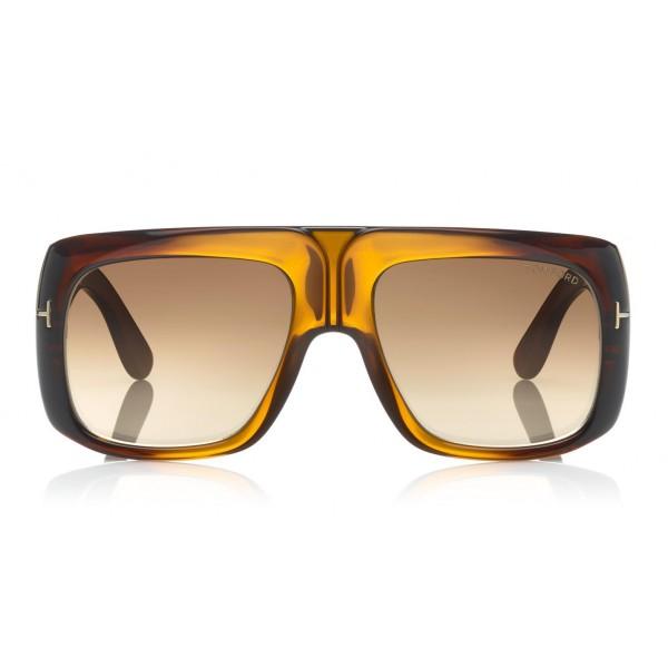 Tom Ford Gino Sunglasses Square Acetate Sunglasses Ft0733 Brown Tom Ford Eyewear Avvenice