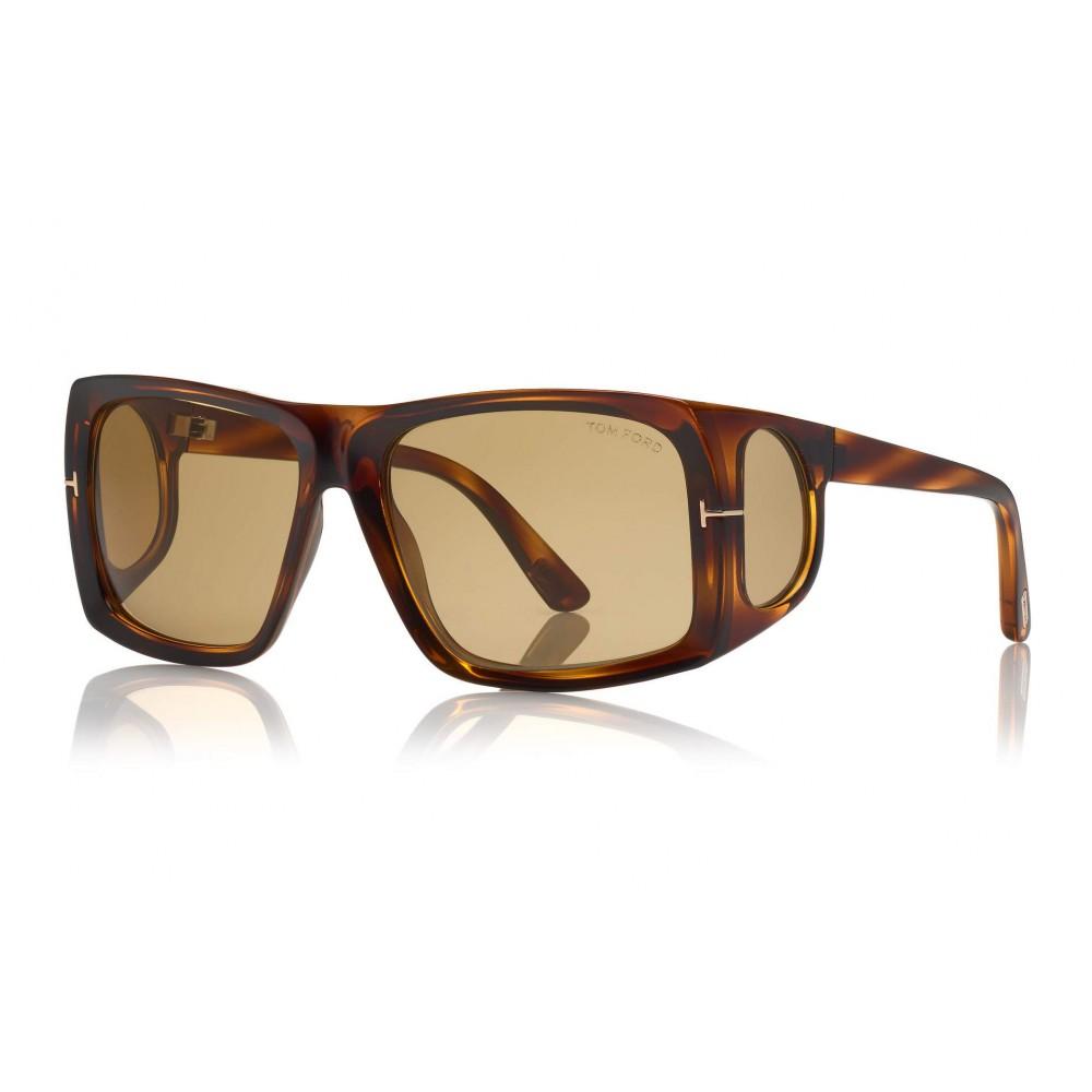 Tom Ford Rizzo Sunglasses Occhiali da Sole Quadrati in Acetato FT0730