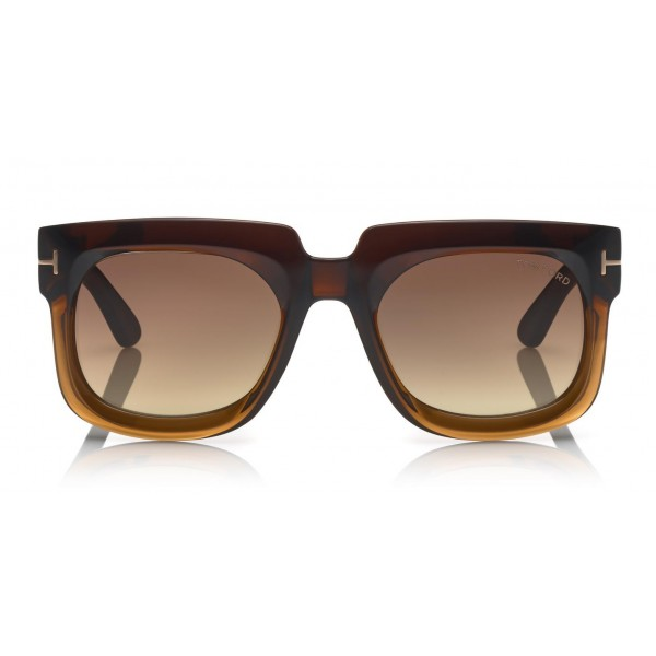 Tom Ford - Christian Sunglasses - Occhiali da Sole Quadrati in Acetato - FT0729 - Occhiali da Sole - Tom Ford Eyewear