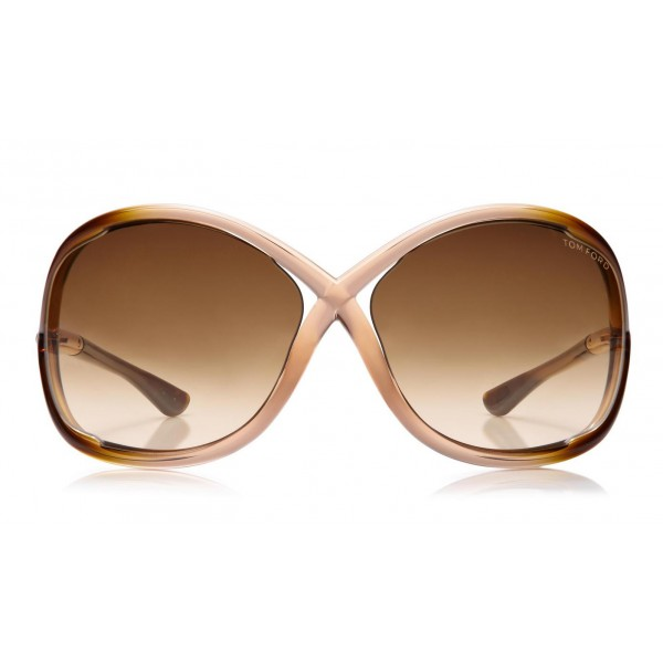 Tom Ford - Whitney Sunglasses - Occhiali da Sole Rotondi Oversize in Acetato - FT0009 - Occhiali da Sole - Tom Ford Eyewear
