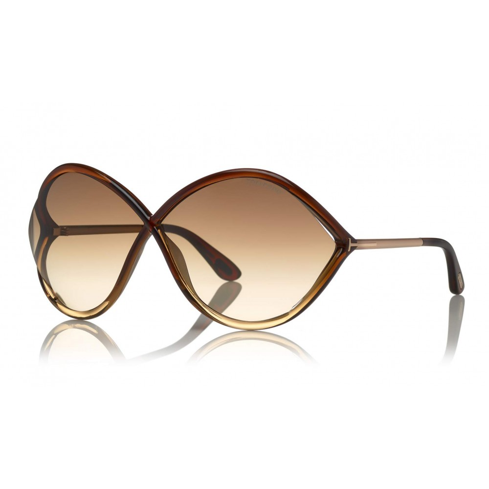 73c68a38a1 ... Tom Ford - Liora Sunglasses - Oversized Round Acetate Sunglasses -  FT0528 - Sunglasses - Tom