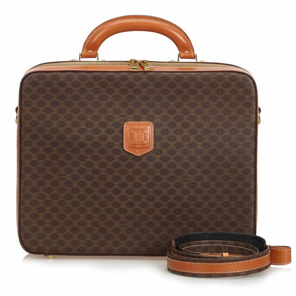 Céline Vintage - Macadam Business Bag - Brown - Leather Handbag - Luxury High Quality