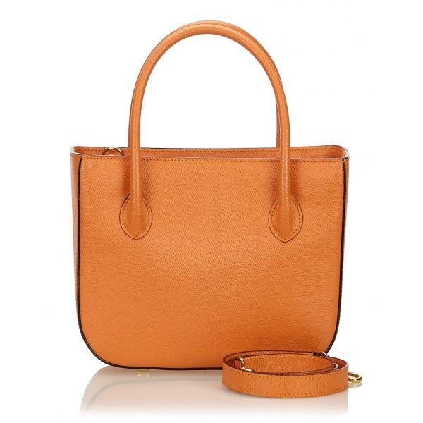 Céline Vintage - Leather Satchel Bag - Orange - Leather Handbag - Luxury High Quality