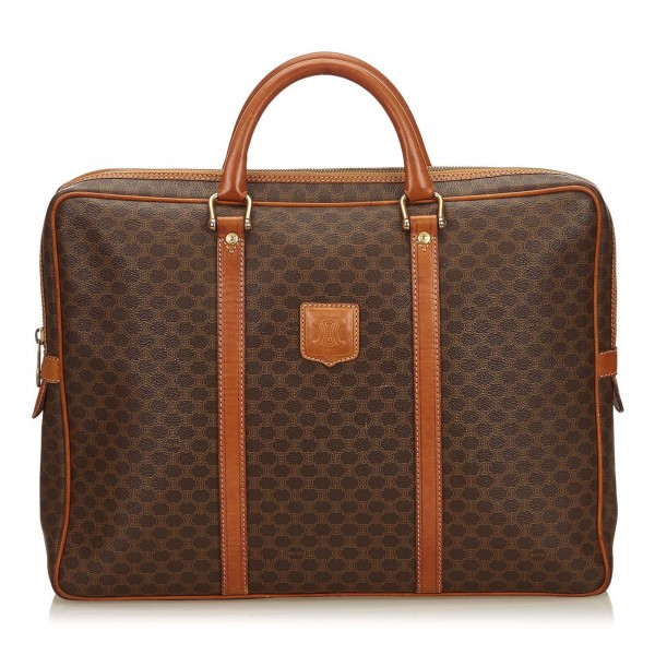 Céline Vintage - Macadam Briefcase Bag - Brown - Leather Handbag - Luxury High Quality
