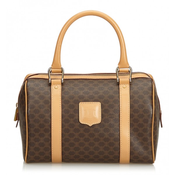 Céline Vintage - Macadam Boston Bag - Brown - Leather Handbag - Luxury High Quality