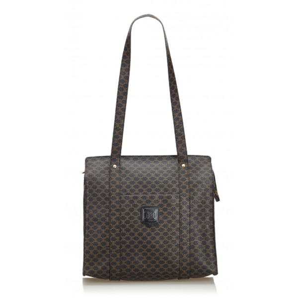 Céline Vintage - Macadam Tote Bag - Black - PVC Handbag - Luxury High Quality