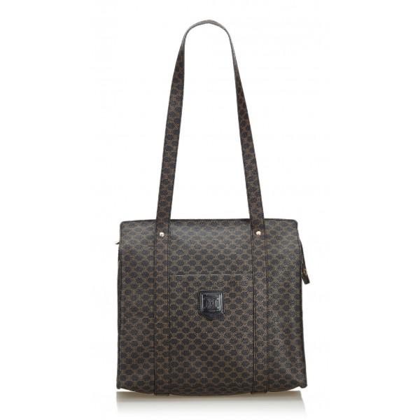 Céline Vintage - Macadam Tote Bag - Nero - Borsa in PVC - Alta Qualità Luxury