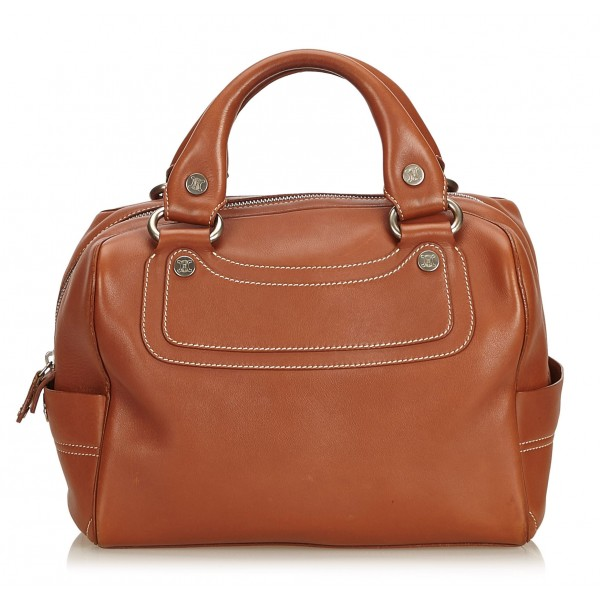 Céline Vintage - Leather Boogie Bag - Brown - Leather Handbag - Luxury High Quality