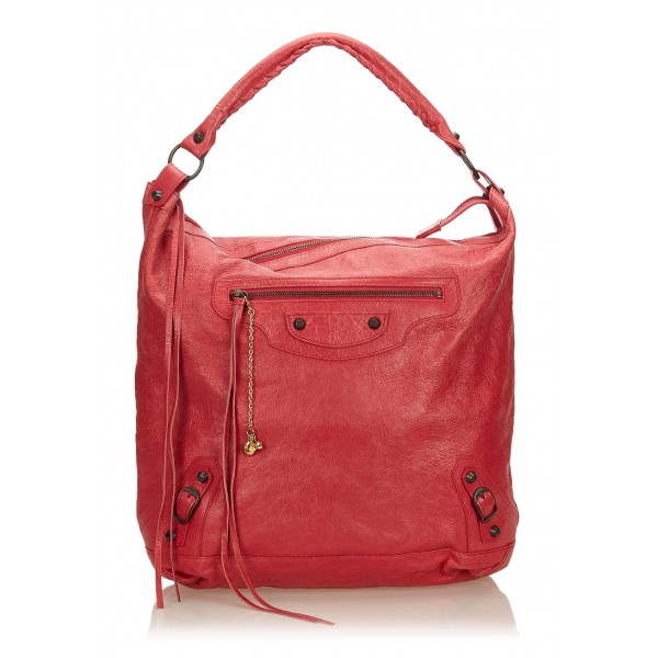 Balenciaga Vintage - Leather Motocross Classic Day Bag - Rosa - Borsa in Pelle - Alta Qualità Luxury