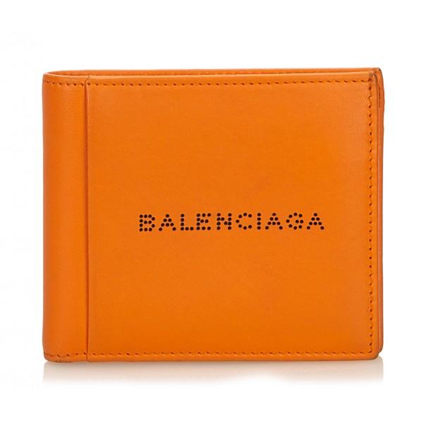 Balenciaga Vintage - Small Leather Wallet - Arancione - Portafoglio in Pelle - Alta Qualità Luxury