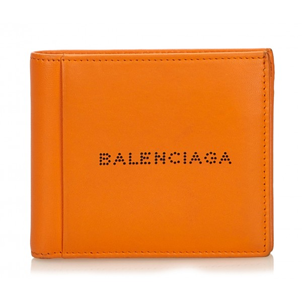 Balenciaga Vintage - Small Leather Wallet - Orange - Leather Wallet - Luxury High Quality
