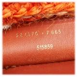 Balenciaga Vintage - Motocross Classic Panier Basket Bag - Orange White - Leather and Straw Handbag - Luxury High Quality