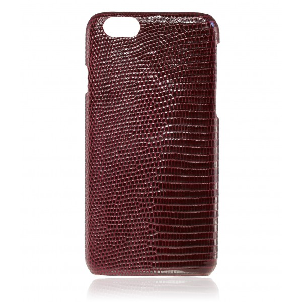 2 ME Style - Case Lizard Bordeaux Lisse Glossy - iPhone 6/6S