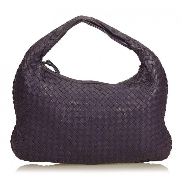 taglia 40 ec15c 97252 Bottega Veneta Vintage - Intrecciato Hobo Bag - Viola - Borsa in Pelle -  Alta Qualità Luxury