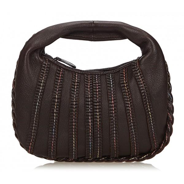 Bottega Veneta Vintage - Leather Hobo Bag - Brown - Leather Handbag - Luxury High Quality