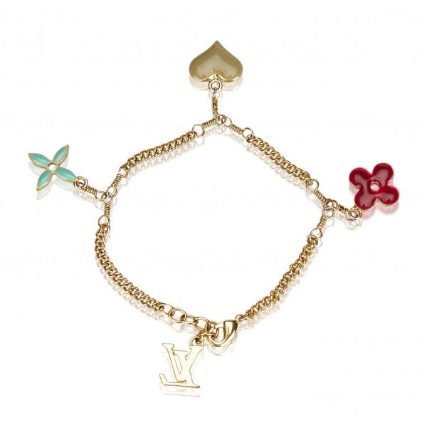 Louis Vuitton Vintage - Monogram Charm Bracelet - Gold Multi - LV Bracelet - Luxury High Quality