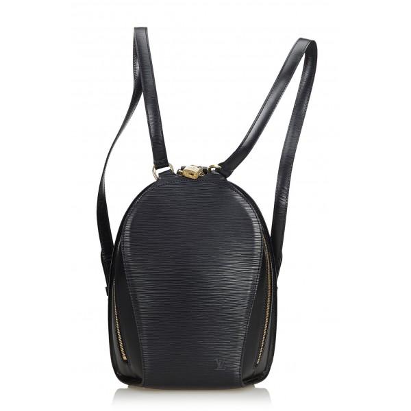 Louis Vuitton Vintage - Epi Mabillon Bag - Nero - Zaino in Pelle Epi e Pelle - Alta Qualità Luxury