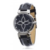 Louis Vuitton Vintage - Diamond Tambour Forever - Silver Black - LV Watch - Luxury High Quality