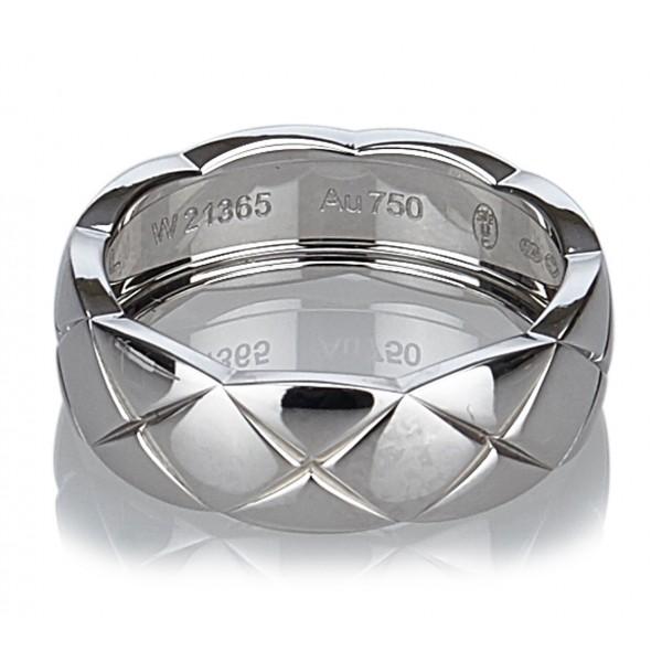 Chanel Vintage - Matelasse Ring - Oro Bianco - Anello in Oro Bianco Chanel - Alta Qualità Luxury