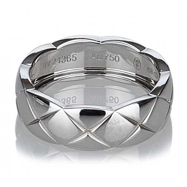 Chanel Vintage - Matelasse Ring - White Gold - Gold Ring Chanel - Luxury High Quality