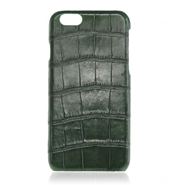 2 ME Style - Cover Croco Vert Bouteille - iPhone 6/6S
