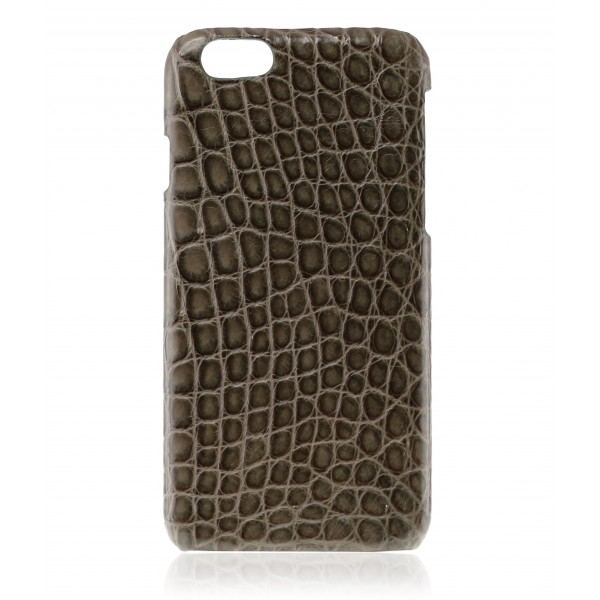 2 ME Style - Cover Croco Brown Carob - iPhone 6/6S