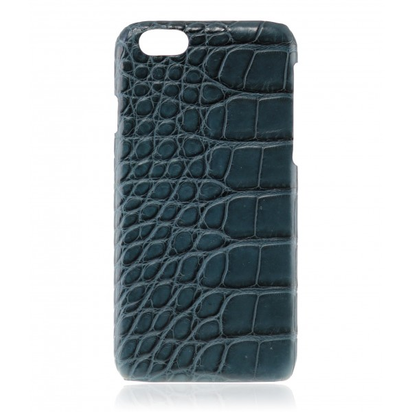 2 ME Style - Cover Croco Navy Blue - iPhone 6/6S