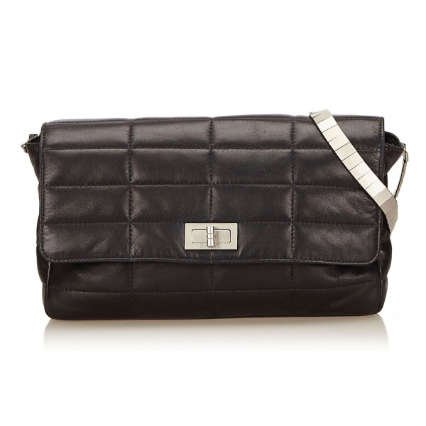 Chanel Vintage - Reissue Lambskin Classic Flap Bag - Black - Leather and Lambskin Handbag - Luxury High Quality