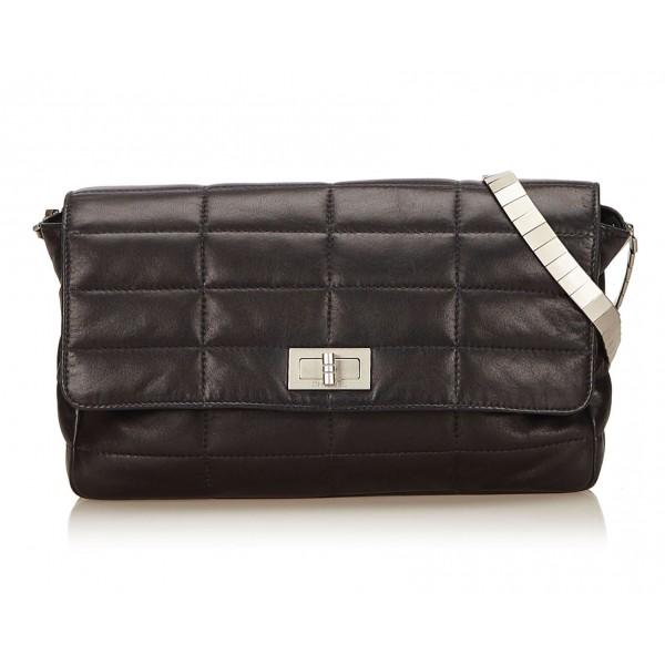 Chanel Vintage - Reissue Lambskin Classic Flap Bag - Nero - Borsa in Pelle e Agnello - Alta Qualità Luxury