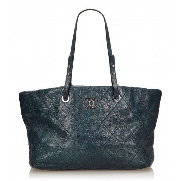 87b47ea3c734d8 Chanel Vintage - Soft Caviar Tote Bag - Blue - Caviar Leather Handbag -  Luxury High Quality - Avvenice