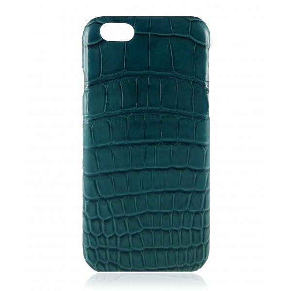2 ME Style - Cover Croco Green Petrol - iPhone 6/6S