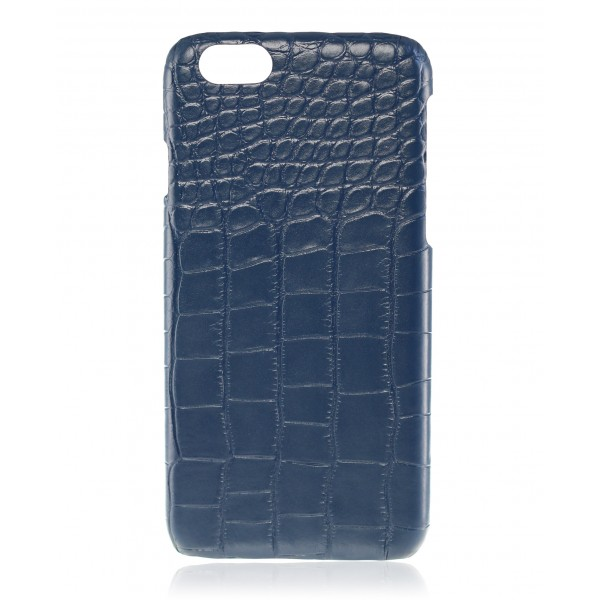 2 ME Style - Cover Croco  Blu - iPhone 6/6S