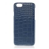2 ME Style - Cover Croco  Blu - iPhone 6/6S