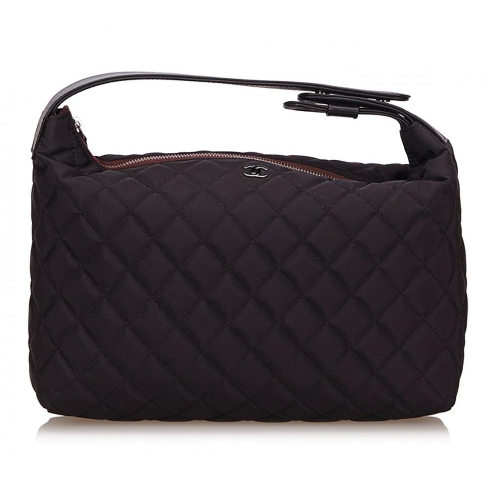 Chanel Vintage - Matelasse Nylon Handbag Bag - Nero ...