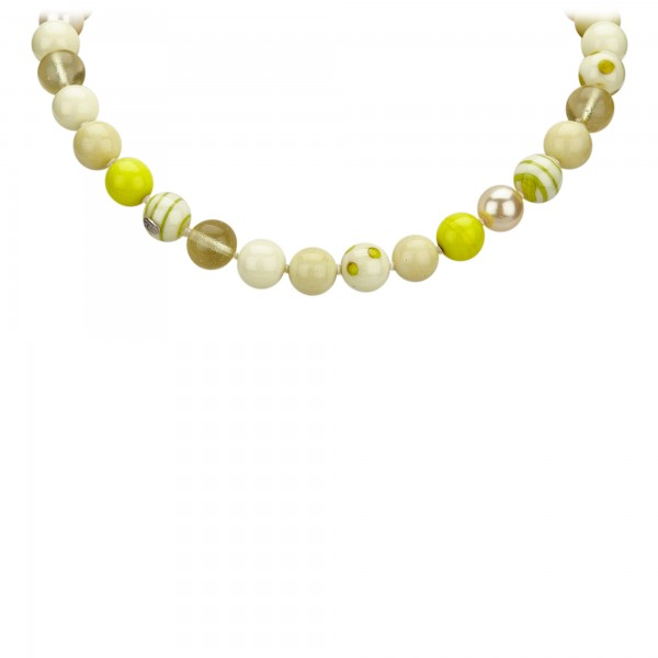 Chanel Vintage - Faux Pearl Necklace - Giallo Bianco - Collana di Perle Chanel - Alta Qualità Luxury