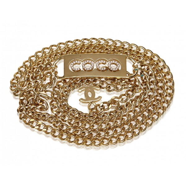 Chanel Vintage - Gold-Tone Chain Belt - Oro - Cintura Chanel - Alta Qualità Luxury