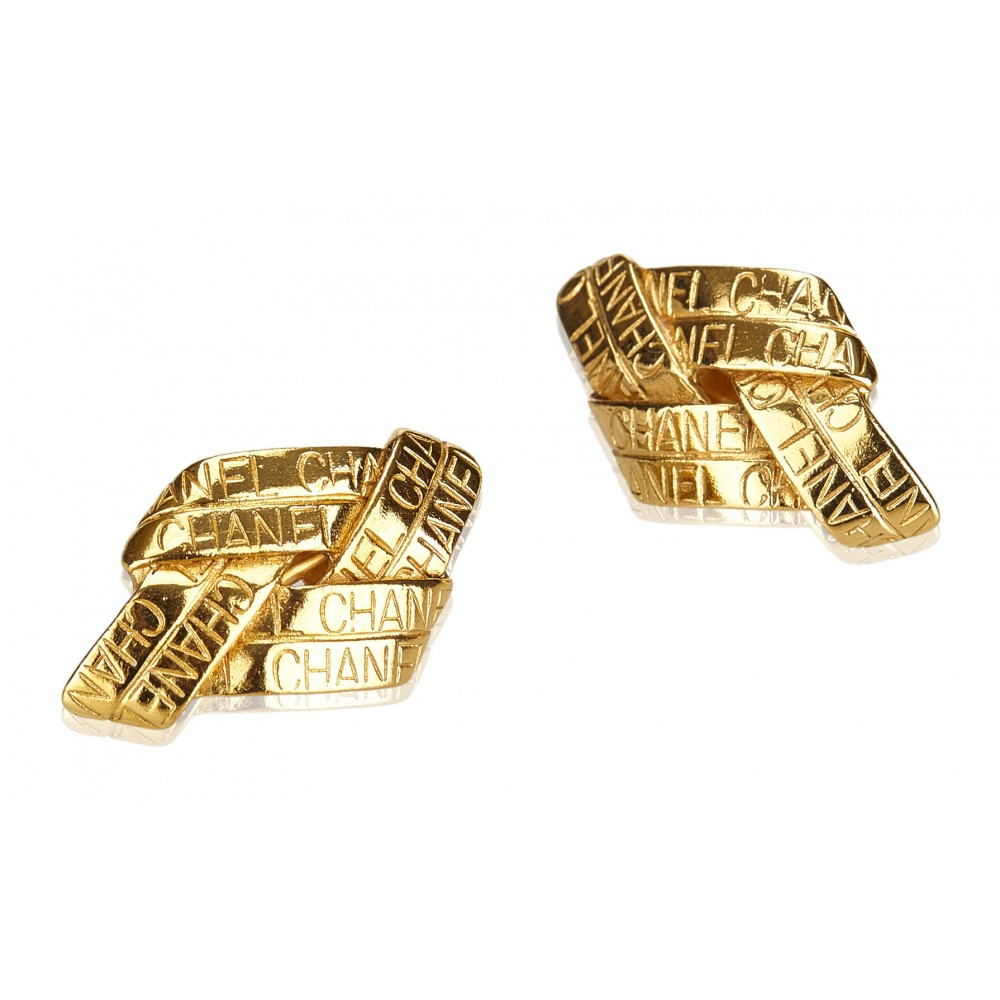 5564f98803 ... Chanel Vintage - Gold Toned Clip On Earrings - Oro - Orecchini Chanel -  Alta Qualità ...