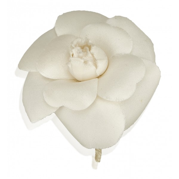 Chanel Vintage - Camellia Brooch - White Ivory - Brooch Chanel - Luxury High Quality