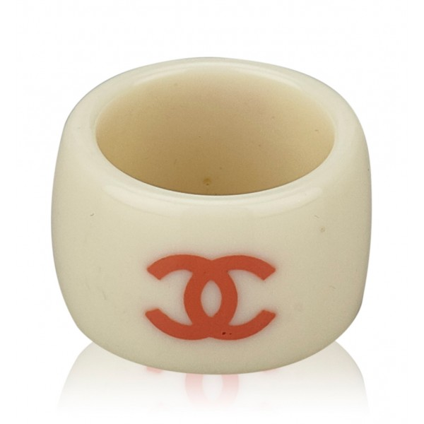 Chanel Vintage - Camellia Ring - Bianco Avorio - Anello Chanel - Alta Qualità Luxury