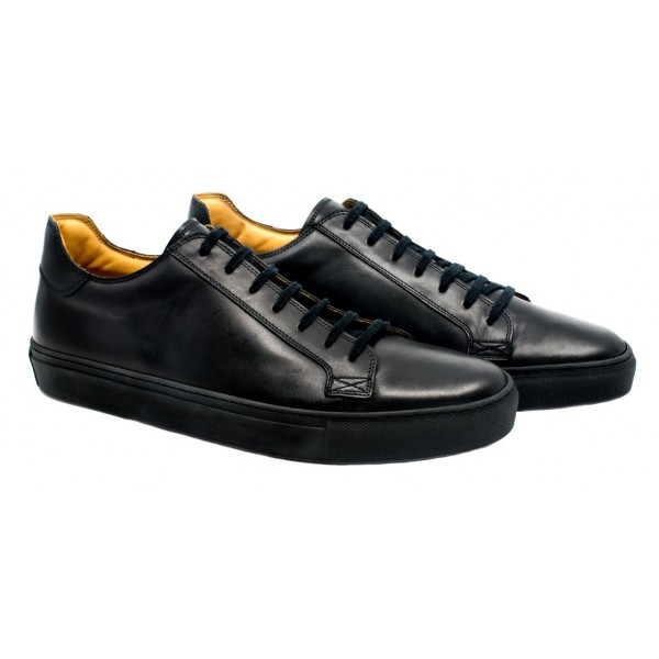 Bottega Senatore - Carulo - Sneakers - Black - Italian Handmade Man Shoes - High Quality Leather Shoes