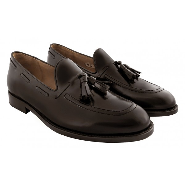 Bottega Senatore - Vittorio - Mocassino - Brown - Italian Handmade Man Shoes - High Quality Leather Shoes
