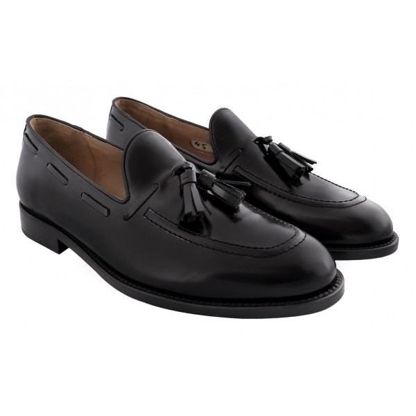Bottega Senatore - Vanio - Mocassino - Black - Italian Handmade Man Shoes - High Quality Leather Shoes